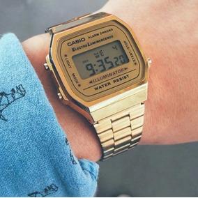 9f9d4f749cc Relogio Casio Vintage Dourado E Preto - Relógios no Mercado Livre Brasil