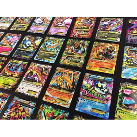 Mega Lote Pokemon - 200 Cartas + 5 Cartas Ex + 10 Brilhantes