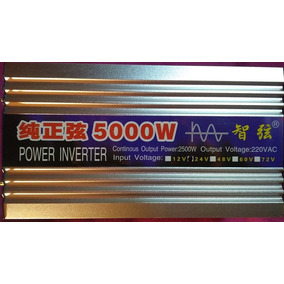 Inversor 5000w - Entrada 24vcc - Saída 220 Volts Vca