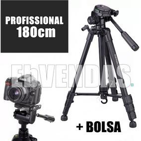 Tripé 1,80m P Canon T2i T3i T4i T5i T6i T7i Binoculo Sakura.