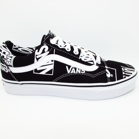 3cb1f4368b Tenis Vans Old Skool Vn0a38g1ua9 Logo Mix Black True White