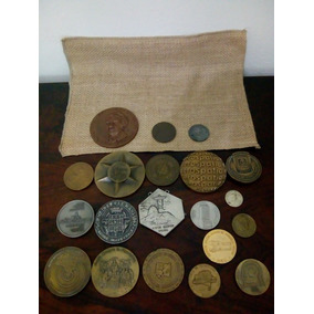 Coleção Lote Medalhas Antigas Com 20 Itens 1908 A 1980