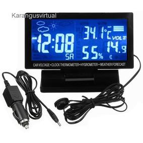35a56bb8da6 Voltimetro Relogio Termometro Digital Automotivo - Som Automotivo no ...