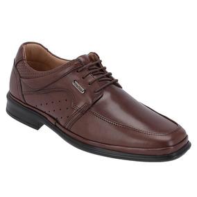 Sapato Social Masculino Ortopédico De Cadarço Tabaco 5202 7ef040b243a