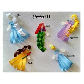 5 Piezas Moños Para Niñas Princesas Disney