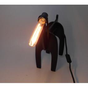 Luminária De Mesa Dog Preto