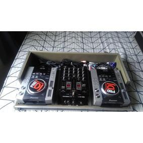 Par Cdj Pionner 200 + Mixer Behringer Vmx200 + Case Tudo Nov