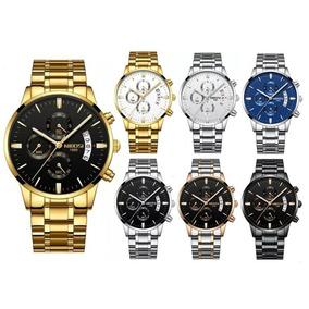 Relógio Nibosi Masculino Anti-risco Funcional Luxo Promoção