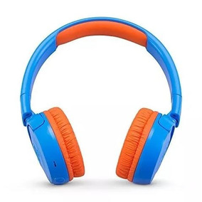 Audifonos Jbl Jr300bt Niños Inalámbricos Azul Y Naranja