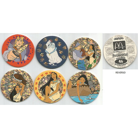 6 Tazos Da Coleção Avimage Pog Mcdonald´s Disney Pocahontas
