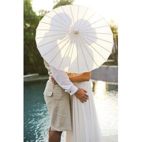 Sombrilla China Blanca Boda (40 Piezas) - Envio Gratis