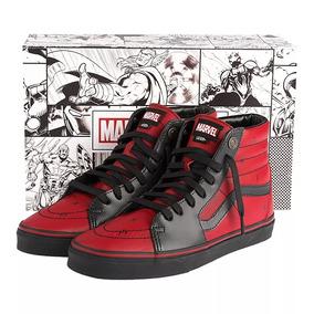 Tênis Vans Marvel Deadpool Sk8-hi Vermelho Preto Collab Novo