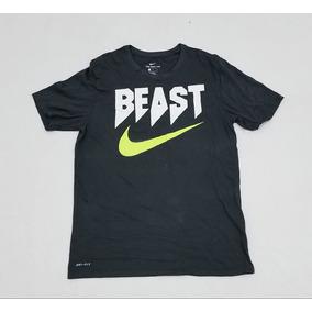 Playera Nike Dri Fit, Hombre, Gris, Grande, Beast.