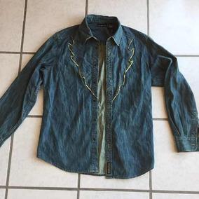 Camisa De Mezclilla Dkny Donna Karan Hombre Talla L