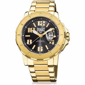 47175f22d7b Relógio Everlast Masculino Dourado Analógico E642. R  999