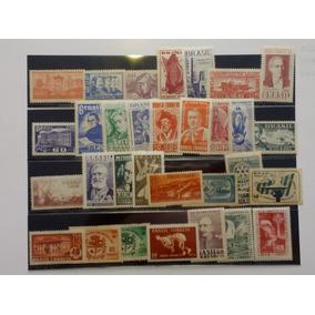 S04= Parte De Coleçao De Selos Do Brasil 1954/1955 31 Selos