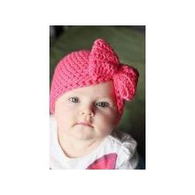 Gorros Tejidos Para Bebés Y Niñas Con Moños en Mercado Libre México 573b4d9bad8