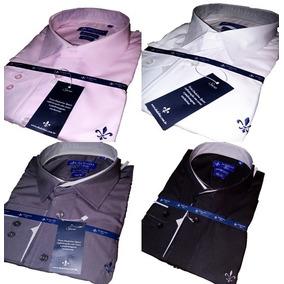 Kit 4 Camisas Social Dudalina Masculina Slim Fit