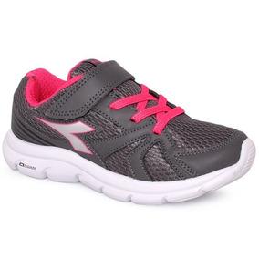 3aee1b5017e Tênis Infantil Diadora Park 126102 Grafite rosa Pink