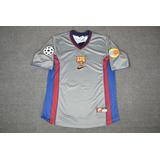 Camisa Barcelona Pratead Champions League 1999-00 Rivaldo 11