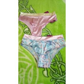 Set Ilusion 2pantaleta,bikini Satinada Bicolor Ultrabrillosa