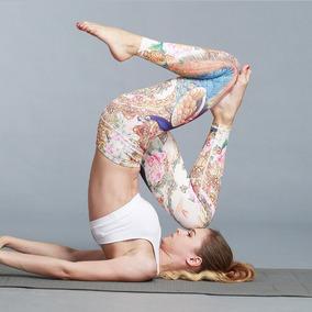 Mujeres Yoga Pantalones Aptitud Gimnasio Colorido Polainas