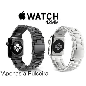 Pulseira Aço Inox Para Relógio Apple Watch 42/ 44mm + Ajust