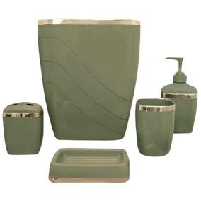 Accesorios Para Baño De Plastico Verde +envio Gratis be2166400927