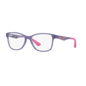 6bd19436f98ca Armação Oculos Grau Ray Ban Junior Rb1563l 3692 Lilas Rosa