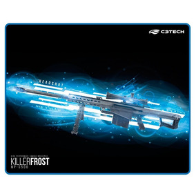 Mouse Pad Gamer C3tech Killer Frost Borracha Antiderrapante