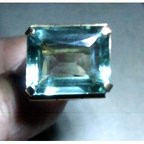 .anillo Oro 14kt Con Aguamarina