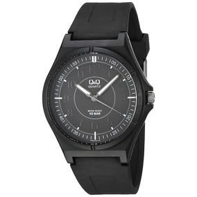 Reloj Q&q (by Citizen) Negro, Silicón, Sumergible, Cuarzo