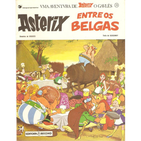 Livro Asterix Entre Os Belgas Volume 24 René Goscinny Record