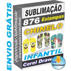 Vetor Moldes De Chinelos Estampar Chinelo ( Corel Draw ) - Design ... d71dd811550d9