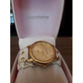 Relógio Feminino Mondaine - Pulseira Couro Branca