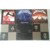 Metallica - 04 Álbuns Lps Vinis, Sendo 01 Duplo - 05 Discos