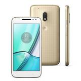 Motorola Moto G 4 Play Edição Especial Dtv Branco E Dourado.