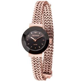 Relógio Technos Feminino Rose E Preto Elegance 5y20ir/4p