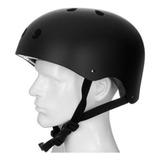Capacete Hondar Preto C/ Led - P/ Patins, Roller, Skate
