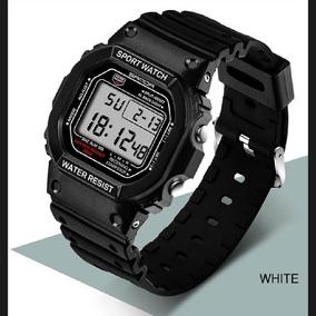 Relógio Quadrado Sanda Original Digital Pulseira Borracha
