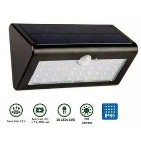 Luminaria Solar Externa, 20w Leds Com Sensor, Pronta Entrega