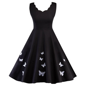 Vestidos cortos manga de mariposa