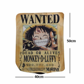 One Piece Funda De Almohada Cojin Monkey D Luffy Wanted 922342236bf