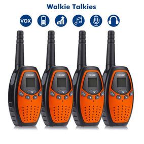 4 X 2-way Radio Larga Distancia Gama 22ch Walkie Talkies Par