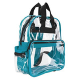 Dalix Clear Backpack Bags Plástico Liso Transparente Transpa