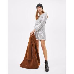 Abrigo Dama Suave Borreguilla Mujer Elegant1 Invierno Regalo