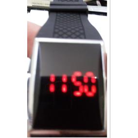 601319fa36e Relogio De Led Visor Fume Espelhado Redondo - Relógios no Mercado ...
