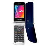 Telefone Celular Barato Idosos Lemon Viva 4 Azul Tecla Sos