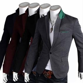 Saco Slimfit Contrast Pocket Blazer En Descuento Hombre Envi