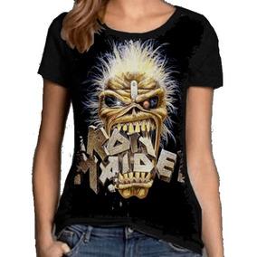 Blusa Fem. 5%off Banda Iron Maiden Rock In Rio 85